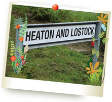 Heaton and Lostock street sign